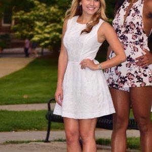 White Bebe A-line dress
